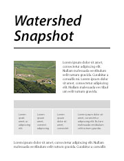 Watershed Snapshot